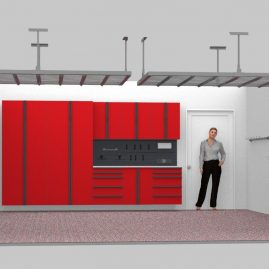 Red Cabinets Garage Mountain View